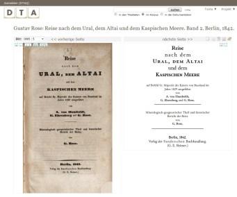 Gustav Rose: Reise nach dem Ural, dem Altai und dem Kaspischen Meere, Bd. 2, Berlin 1842
