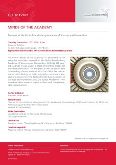 Minds of the Academy, BBAW, Berlin (Program Flyer)