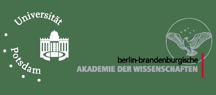 Logos Universität Potsdam und Berlin-Brandenburgische Akademie der Wissenschaften