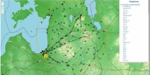 Umkreissuche mit Visualisierung von Reiserouten