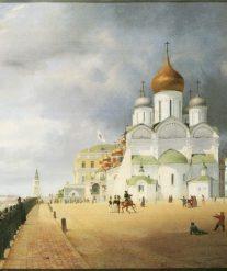 Eduard Gärtner. Panorama vom Kreml in Moskau