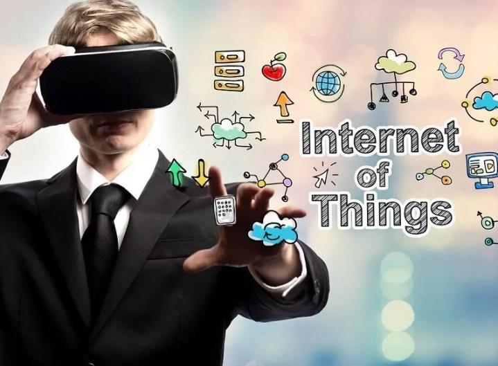 businessman hands tablet future
