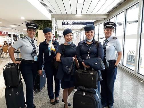 Azul, Azul também celebrou dia internacional da mulher com tripulação feminina, Portal Aviação Brasil