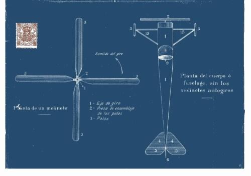 Patente original del autogiro La Cierva