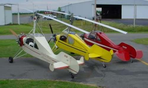 Autogiros Little Wing. Su fuselaje está inspirado en el Piper Cub