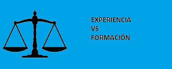 El falso equilibrio entre la experiencia y la formación.