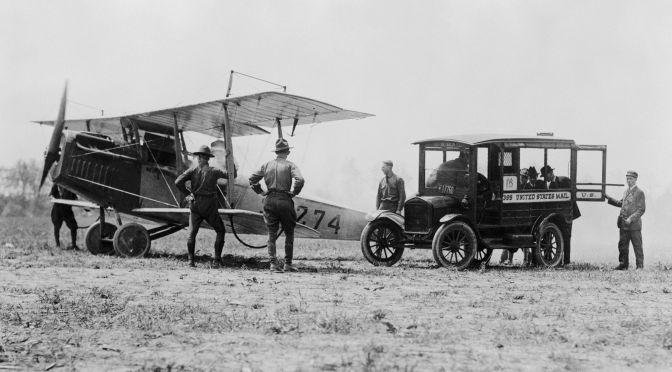 Los pioneros del transporte aéreo y sus dificultades.