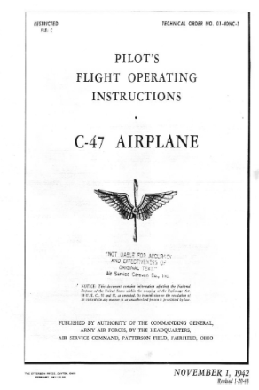Historic airplane flight manuals