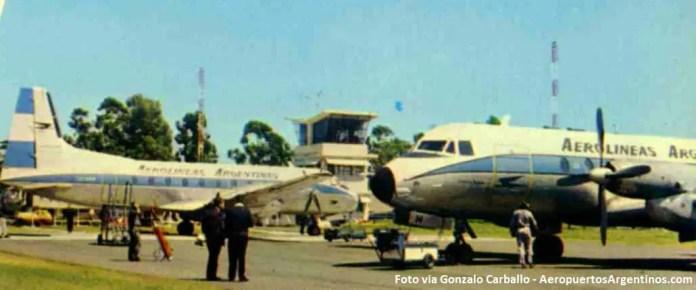 El aeropuerto de Concordia en la década del 60, cuando recibía vuelos de Aerolíneas Argentinas (Foto via Gonzalo Carballo)