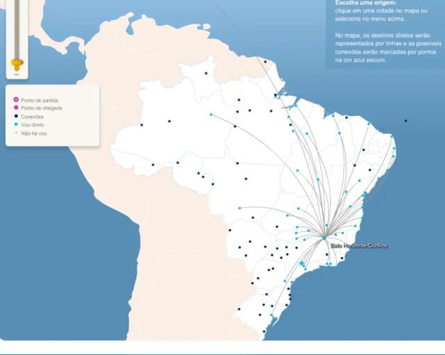Destinos non-stop desde Belo Horizonte