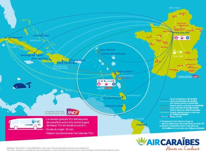 Air Caraibes - red de destinos