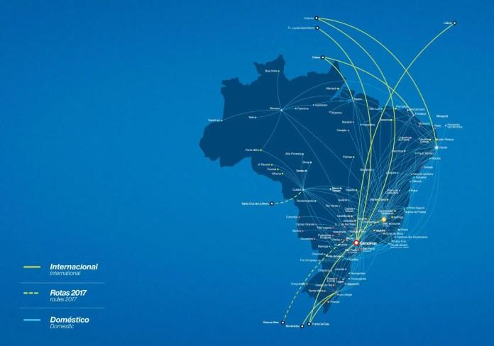 Azul rutas