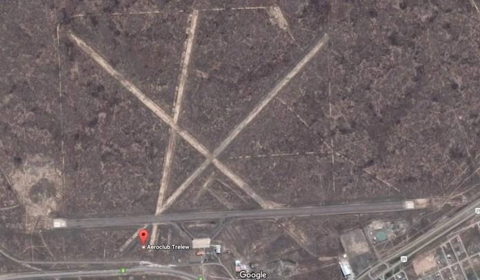 Trelew - Aeroclub - vista satelital