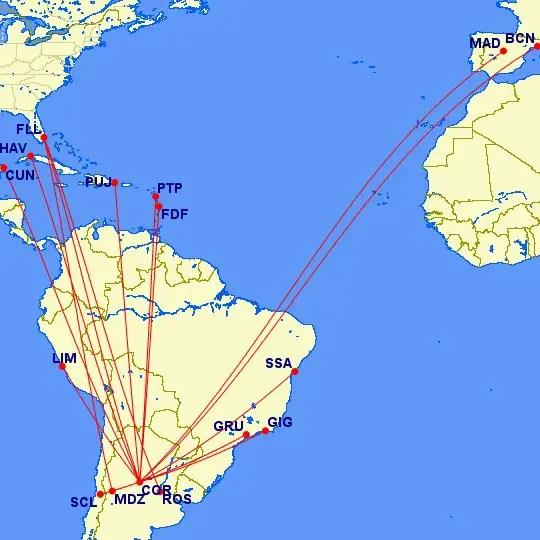 Norwegian Air Argentina - rutas internacionales desde el interior