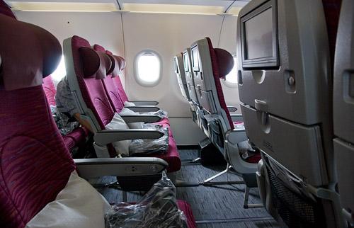 Салон самолета A320 Qatar Airways