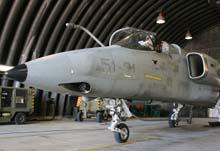 AMX in hangar