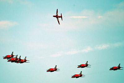 i red arrows ospiti del 2°nucleo aereo della guardia costiera di catania