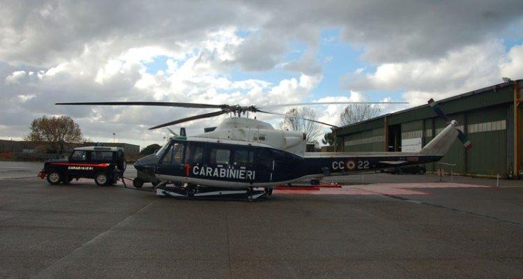 elicottero AB-412 dei Carabinieri