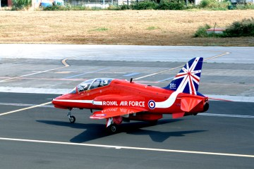 RAF Red Arrows in Italia a Catani