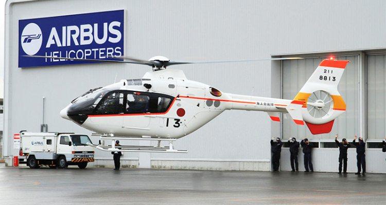 consegnati tre elicotteri th-135 alla jmsdf marina giapponese
