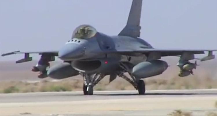 video f16 giordani in iraq e siria