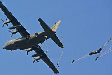 USAF C-130 aviolanci poligono di Maniago, Italia