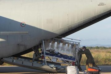 trasporto in bio-contenimento aeronautica militare