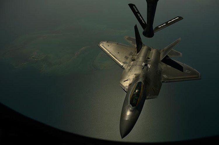 USAF F-22 Raptor in Europa