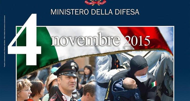 4 novembre 2015 gli eventi della Giornata delle Forze Armate