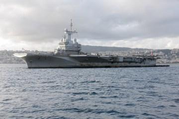 portaerei francese charles de gaulle operazione arromanches 2 siria