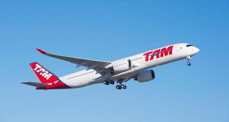 vola il primo airbus a350 xwb della tam airlines