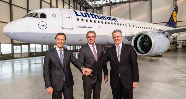 Lufthansa riceve il primo airbus A320neo