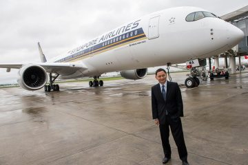 Singapore airlines A350 XWB delivery ceremony