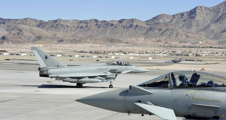 Eurofighter Typhoon italiani alla Red Flag 2016