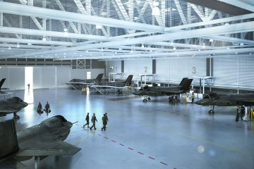 Computer Generated image of F-35 Facility at RAF Marham