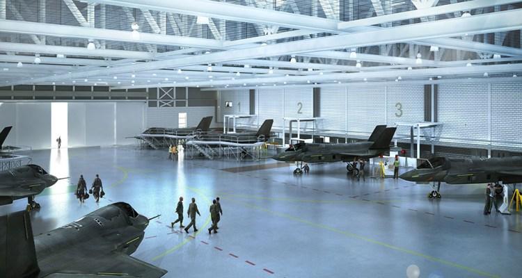 Computer Generated image of F-35 Facility at RAF Marham
