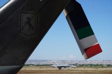 Attività presso la base aerea di Saragozza