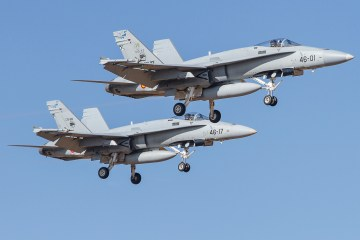 f-18 hornet ejercito del aire