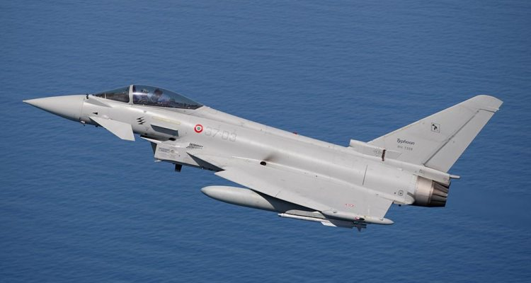 Eurofighter 18° gruppo in volo sul mediterraneo