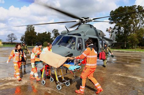 elicottero HH-139 trasporto sanitario AM