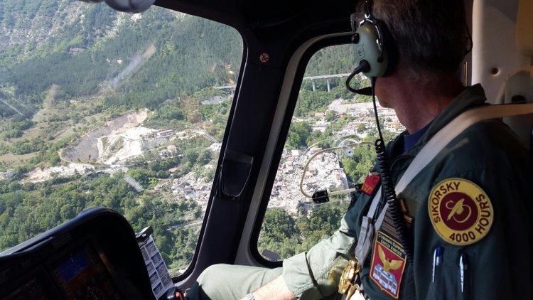 elicotteri aeronautica militare sisma italia centrale