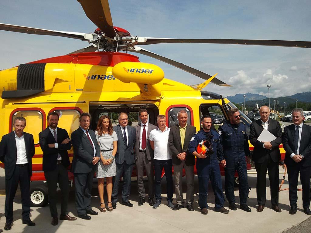 Elicottero 139 : 30 anni di elisoccorso a como: presentato il nuovo elicottero aw 139