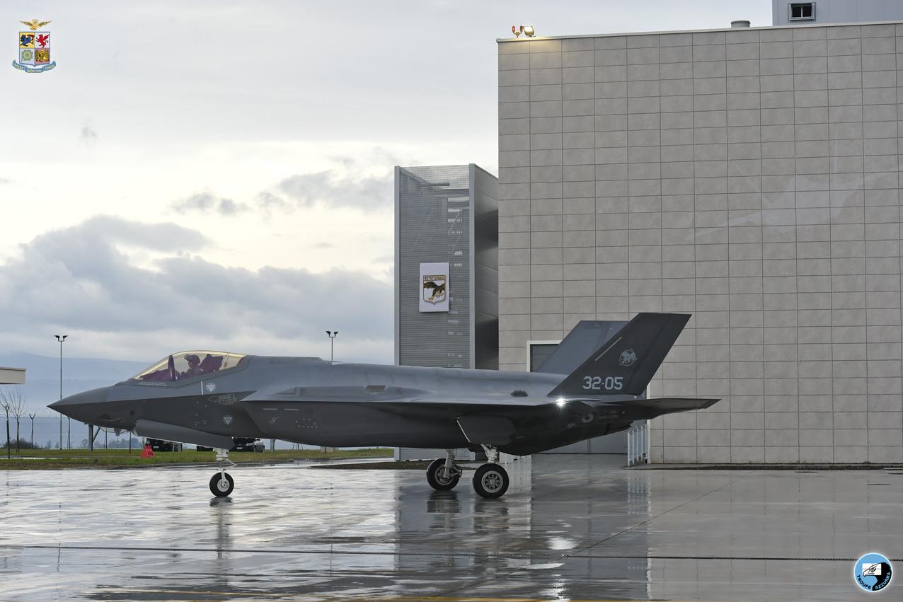 Arrivo degli F-35 JSF al 32° Stormo di Amendola