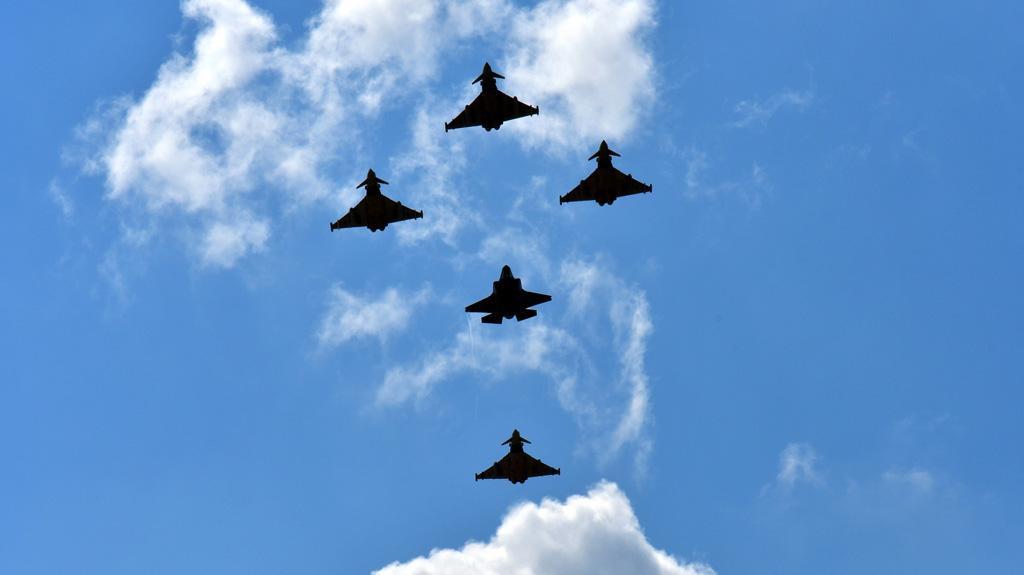 Sorvolo Eurofighter Typhoon e F-35