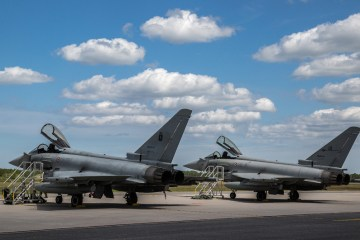 eurofighter italiani in bulgaria per la NATO Air Policing