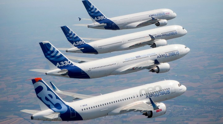 Airbus Family formation flight