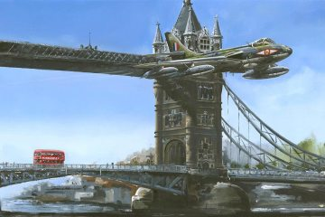 Hawker Hunter Tower Bridge London
