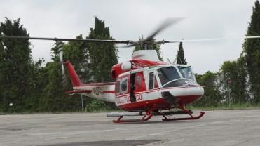 elicottero AB-412 Vigili del Fuoco esercitazione Laurentum 2