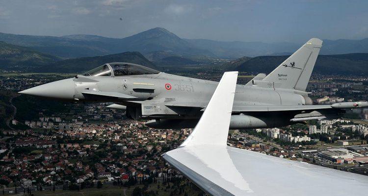 Italia e grecia a difesa dello spazio aereo del montenegro