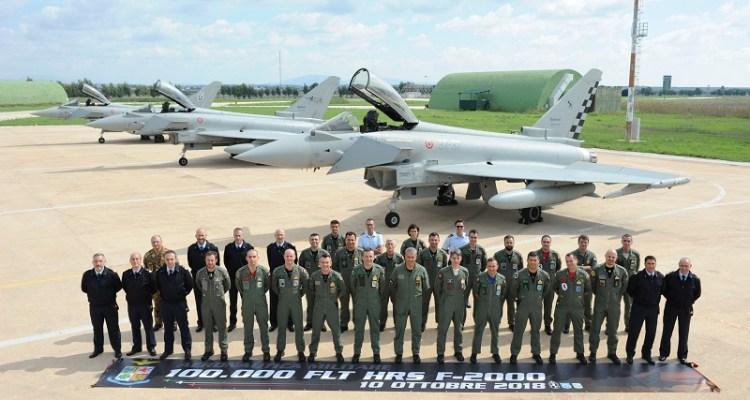 100.000 ore di volo eurofighter italiani